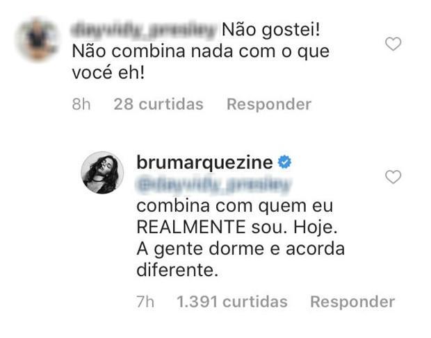 Seguidor detona look de Bruna Marquezine e atriz responde