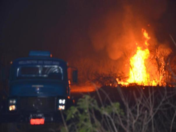 Incêndio no município de Colônia do Piauí (Crédito: José Fernando/ Mural da Vila)
