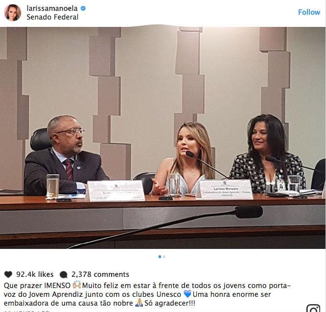 Larissa Manoela vira piada após UNESCO desmentir atriz (Crédito: Reprodução/Instagram)