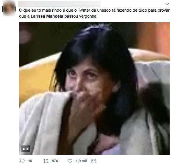 Larissa Manoela vira piada após UNESCO desmentir atriz (Crédito: Reprodução/twitter)