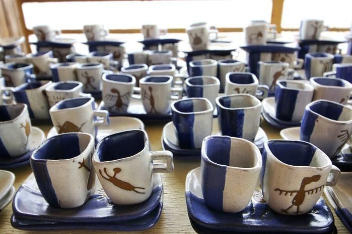 Peças de cerâmica feitas na Serra da Capivara (Crédito: Meuterroir)