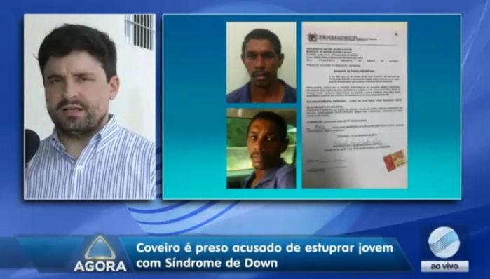 Delegado fala sobre coveiro preso suspeito de estuprar deficiente em Teresina (Crédito: Rede Meio Norte)