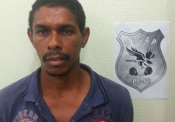Coveiro preso suspeito de estuprar jovem deficiente em Teresina (Crédito: Dicap)