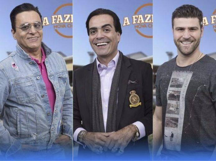 A Fazenda: Nahim, Fábio Arruda e Marcelo Ié Ié estão na roça