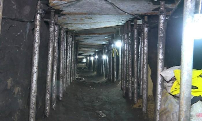 Túnel de cerca de 500 metros foi escavado para assalto a banco   (Crédito: Reprodução)