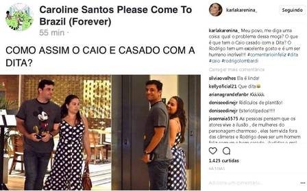 Atriz de revolta ao ser compara com esposa de Rodrigo Lombardi