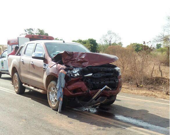 Veículo conduzido por médico em acidente na BR-135 (Crédito: Reprodução)