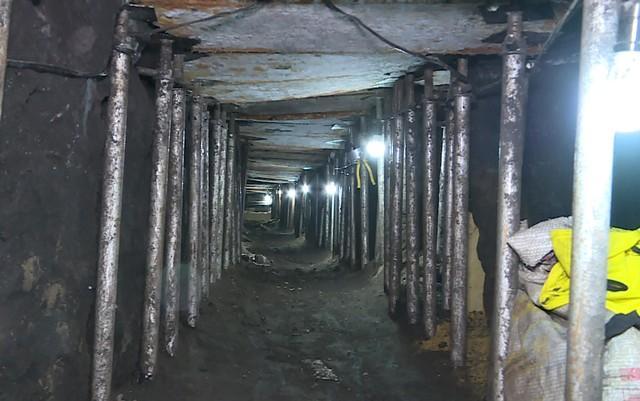 Túnel que levaria ao cofre principal do Banco do Brasil (Crédito: TV Globo)