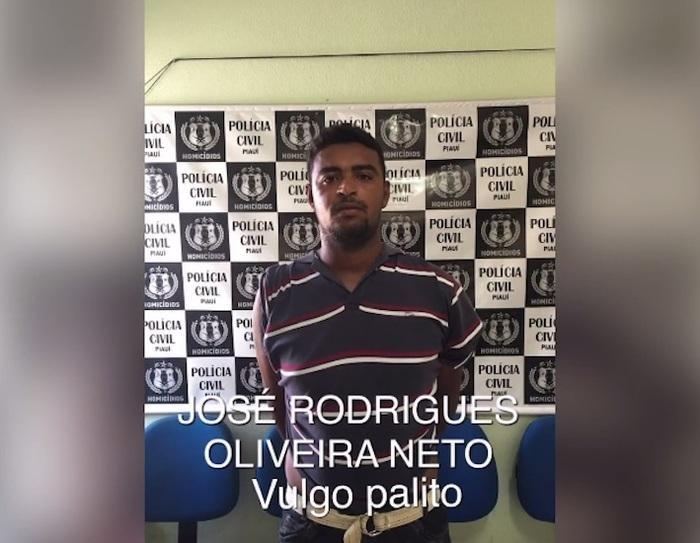 Criminoso foi preso pela Delegacia de Homicídios (Crédito: Reprodução/TV Meio Norte)