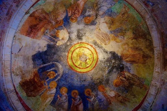 Obra no teto da Igreja de São Nicolau, em Demre, na Turquia (Crédito: Wiki Commons)
