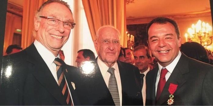 Nuzman, João Havelange e Sérgio Cabral juntos em Paris, em 2009  (Crédito: Reprodução)