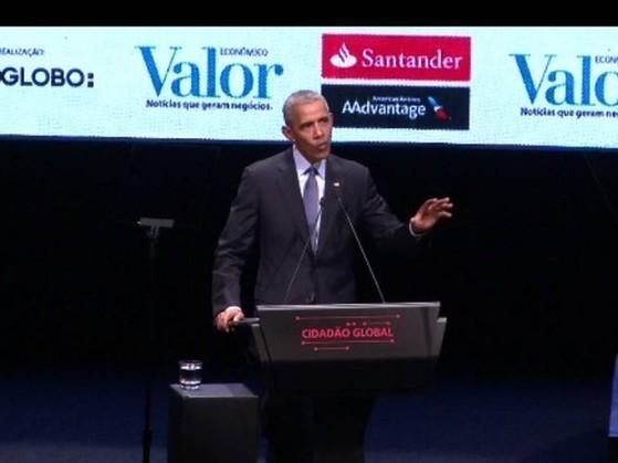Obama participa de palestra em SP e critica xenofobia e populismo