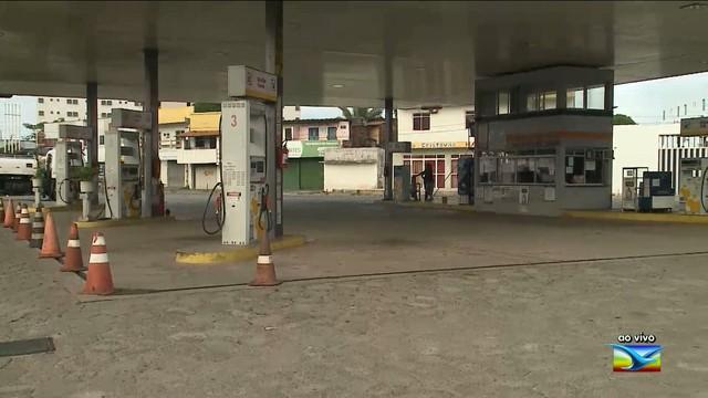 Posto de combustível onde o frentista foi morto (Crédito: TV Mirante)