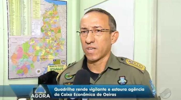 Comandante de Policiamento do Semiárido do Piauí, Raimundo Rodrigues (Crédito: Rede Meio Norte)