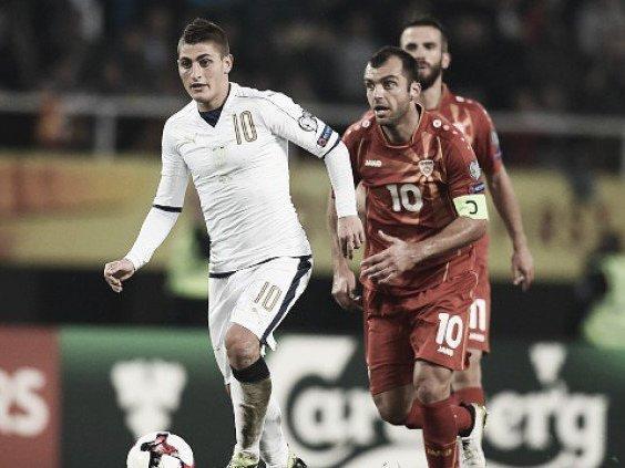 Itália precisa vencer a Macedônia para conquistar vaga na Copa