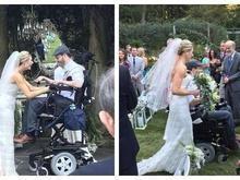 Casal troca alianças após homem ficar tetraplégico durante noivado