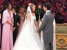 Marina Ruy Barbosa e Xande Negrão se casam em São Paulo; fotos
