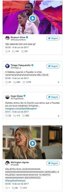 Adriane Galisteu derruba Faustão e cena viraliza na internet