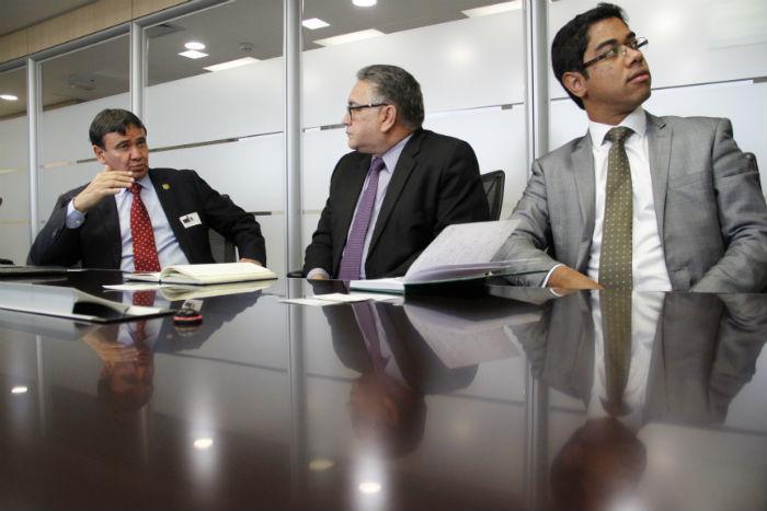 Governador esteve reunido com diretor Banco de Desenvolvimento da América Latina (Crédito: André Oliveira)