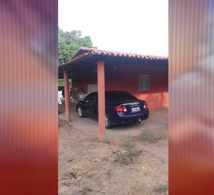 Local onde carro estava escondido (Crédito: Reprodução/Bom Dia Meio Norte)