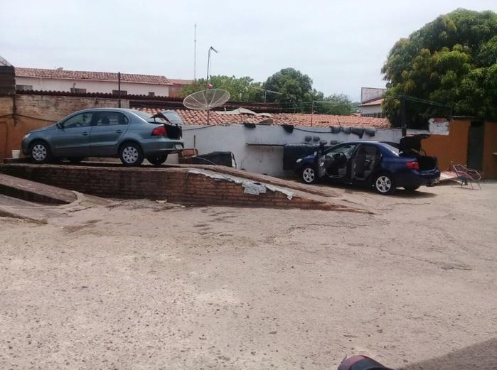 Lava-Jato onde capitão tentou tirar marcas de sangue do carro (Crédito: Reprodução/Bom Dia Meio Norte)
