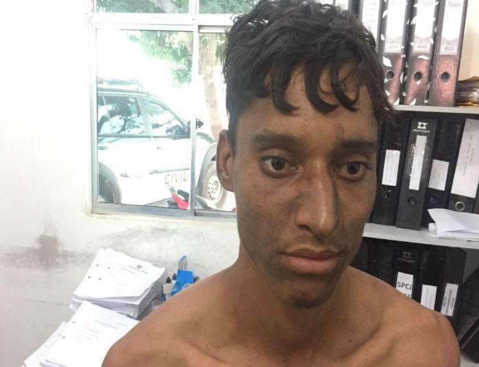 Acusado de espancar o enteado em Timon (Crédito: Polícia Civil de Timon)