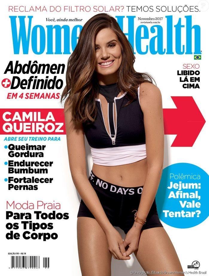 "Camila Queiroz (Crédito: Revista ""Women's Health"")"