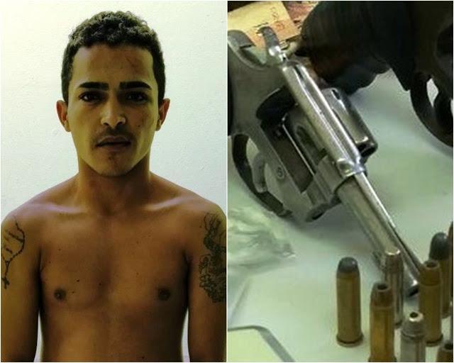 Jovem suspeito de tráfico é preso durante operação policial