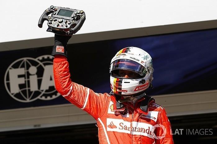 Sebastian Vettel , piloto da Ferrari (Crédito: LAT IMAGES)