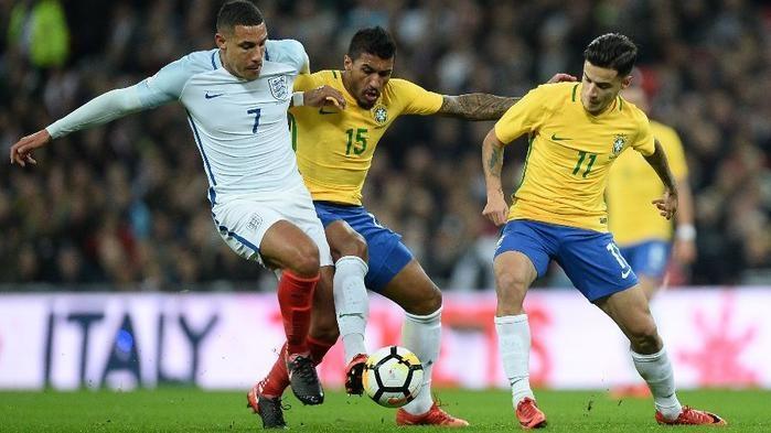 Brasil e Inglaterra ficaram no 0 a 0  (Crédito: Getty Images)