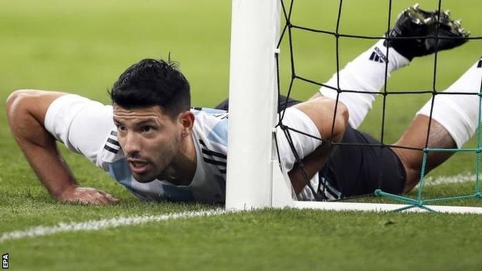 Aguero marcou um dos gols da partida (Crédito: BBC)