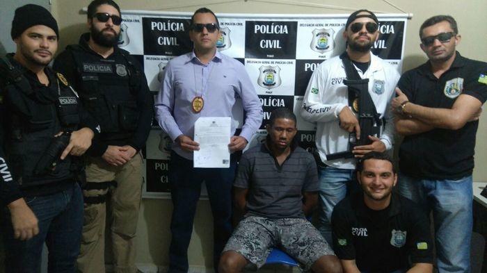 Prisões efetuadas em Picos (Crédito: Secretaria de Segurança)