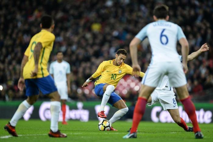 Brasil enfrenta a Inglaterra em Wembley (Crédito: AFP)