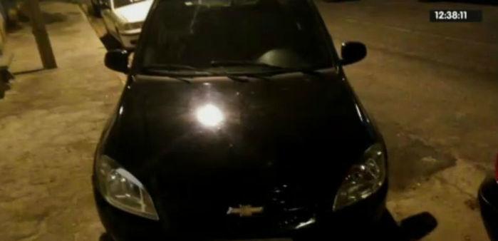 Veículo usado em arrastão no povoado Boa Hora (Crédito: Rede Meio Norte)