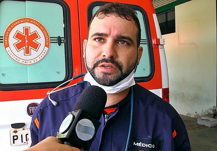 Médico do SAMU, Hydson Robério.  (Crédito: Kairo Amaral)