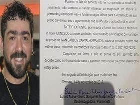 Desembargadora revoga prisão preventiva mantém Panichi em liberdade
