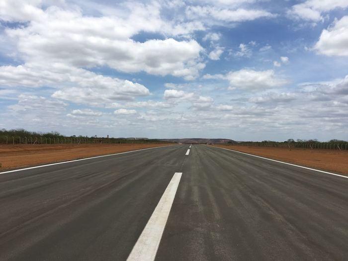 Pista do aeroporto de São João do Piauí (Crédito: Setrans)