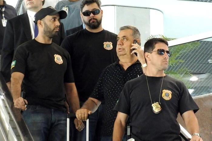 Jorge Picciani é conduzido coercitivamente para depor  (Crédito: Estadão )