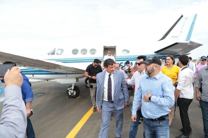 Wellington inaugura aeroporto de São João do Piauí (Crédito: Assessoria)