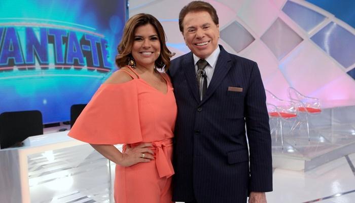 Mara Maravilha e Sílvio Santos