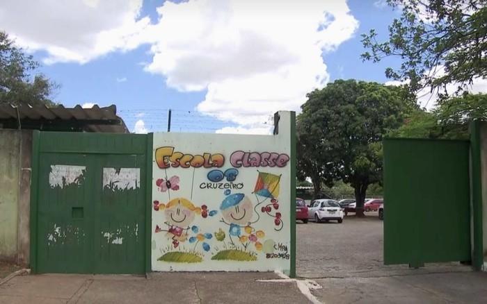 Fachada da Escola Classe 8 do Cruzeiro, no Distrito Federal  (Crédito: Reprodução)