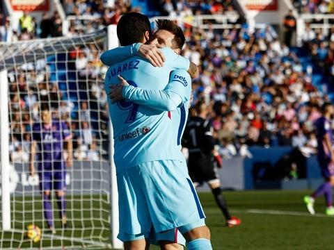 Paulinho marca, Suárez desencanta e Barça passa pelo Leganés