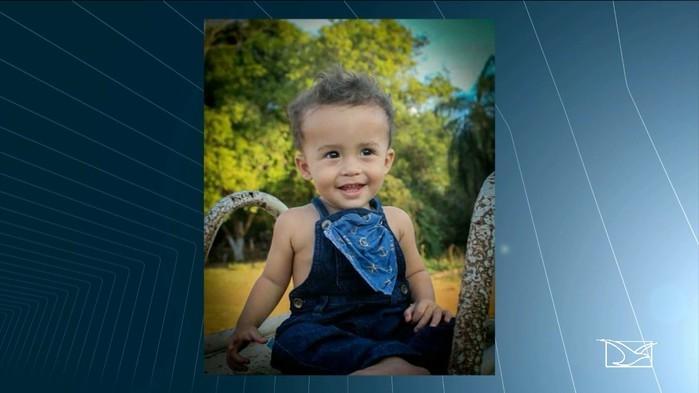 Criança vítima de acidente no Maranhão (Crédito: TV Mirante)