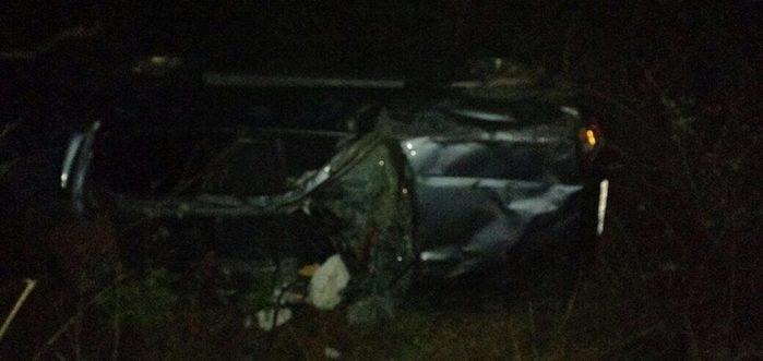 Veículo envolvido em grave acidente na BR-316 em Inhuma (Crédito: Reprodução)