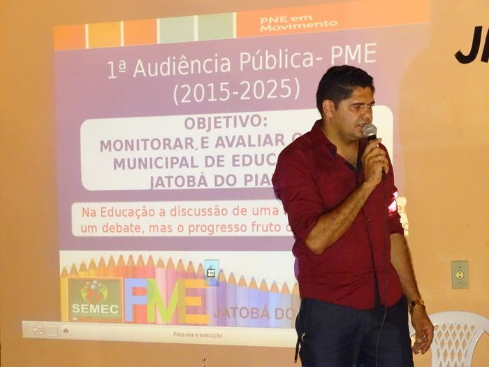 Secretário Municipal de educação de Jatobá do Piauí professor Joseano Oliveira (Crédito: Tony Sobrinho)
