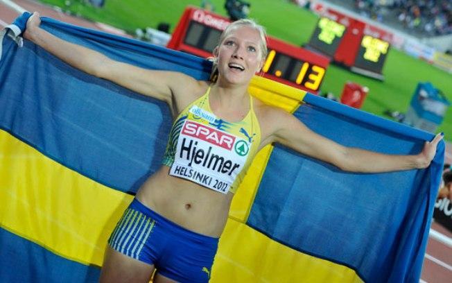 Moa Hjelmer, atleta da seleção sueca de atletismo
