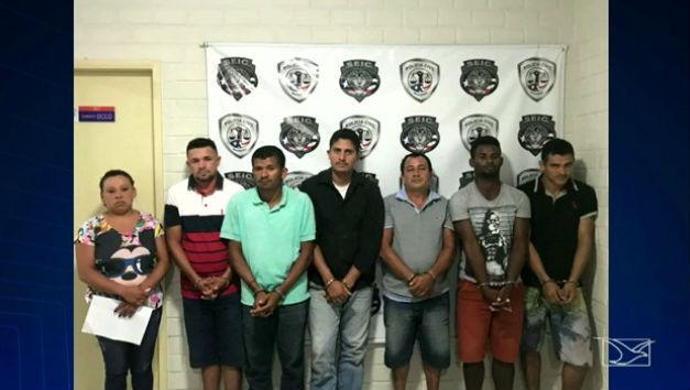Acusados de assaltos a bancos no Maranhão (Crédito: TV Mirante)