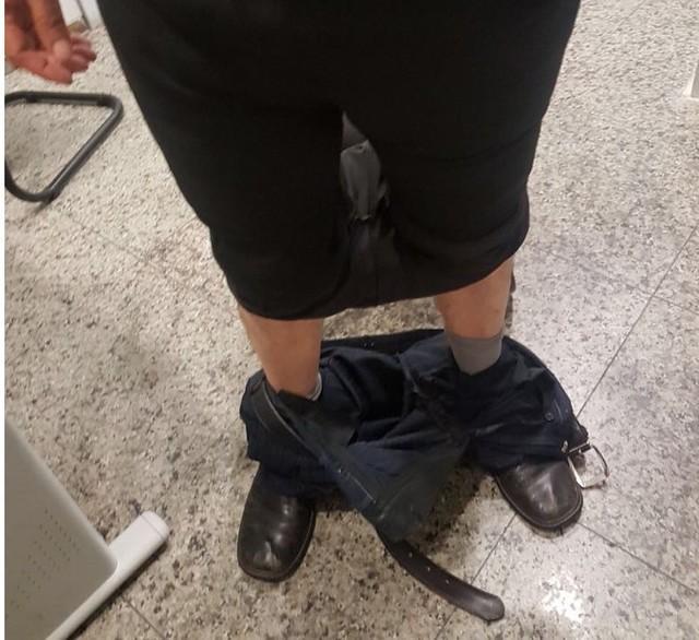 Homem escondeu cocaína debaixo da calça (Crédito: Polícia Federal)