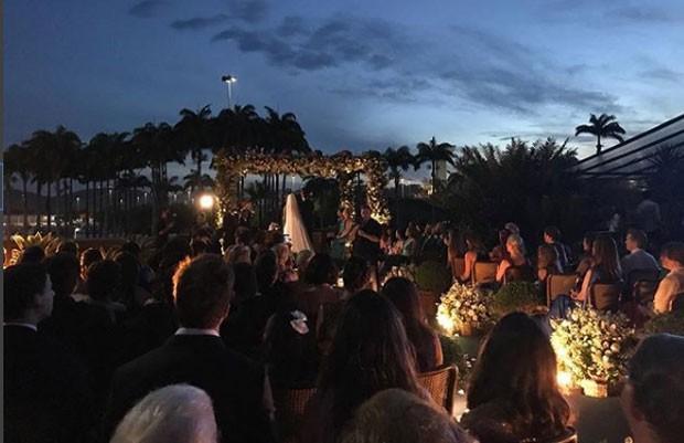 Comemoração do casamento de Fábio Porchat e  Nataly Mega (Crédito: Reprodução)