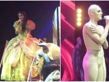 Em show, Pabllo Vittar entra de princesa e